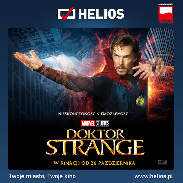 """""""Doktor Strange"""" w kinie Helios!"""
