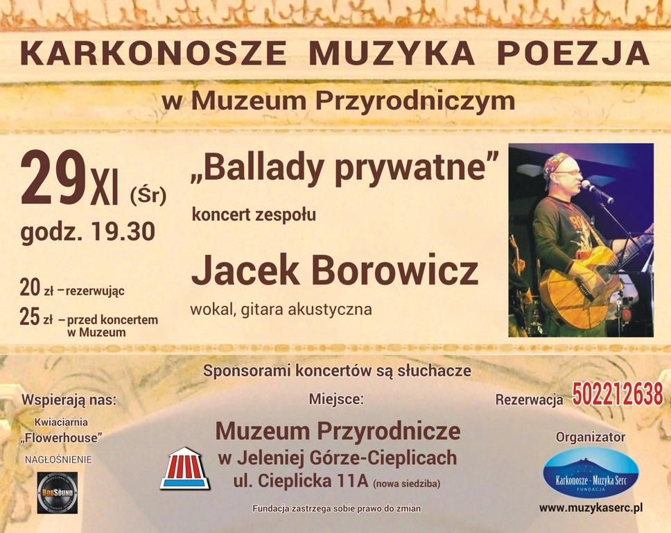 """Jacek Borowicz – """"Ballady Prywatne"""""""