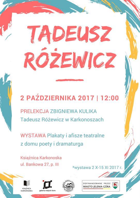 Różewicz PLAKAT 2017