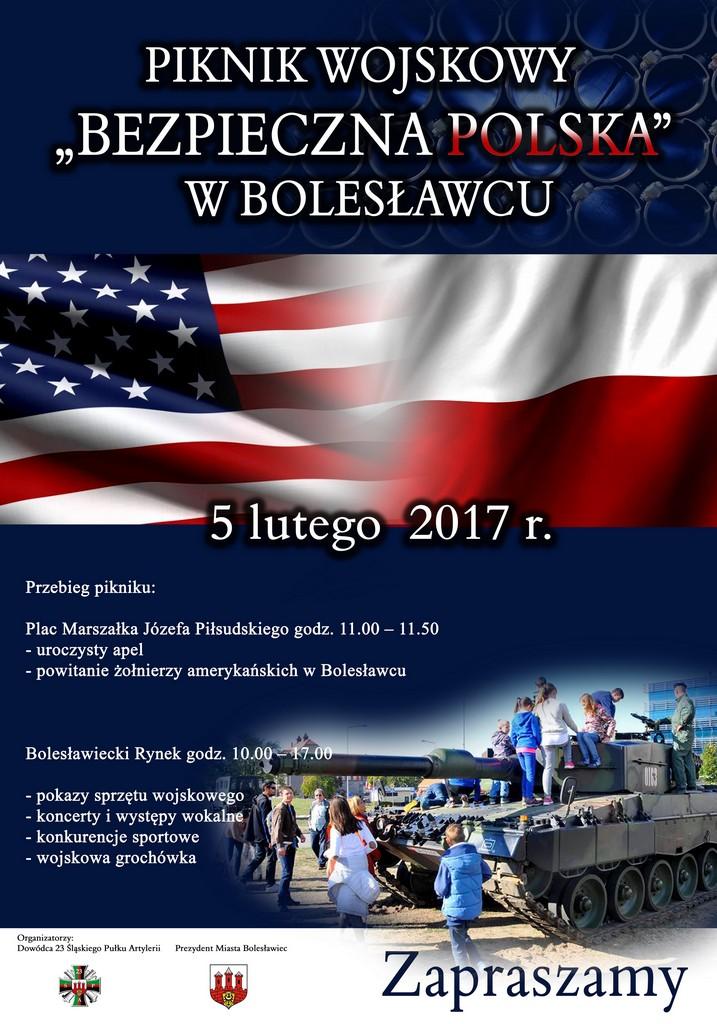 """Piknik wojskowy pod hasłem """"Bezpieczna Polska"""""""