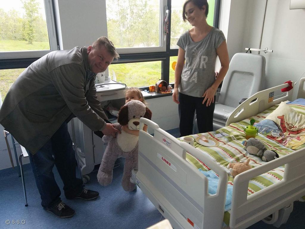 Niecodzienna niespodzianka dla małych pacjentów