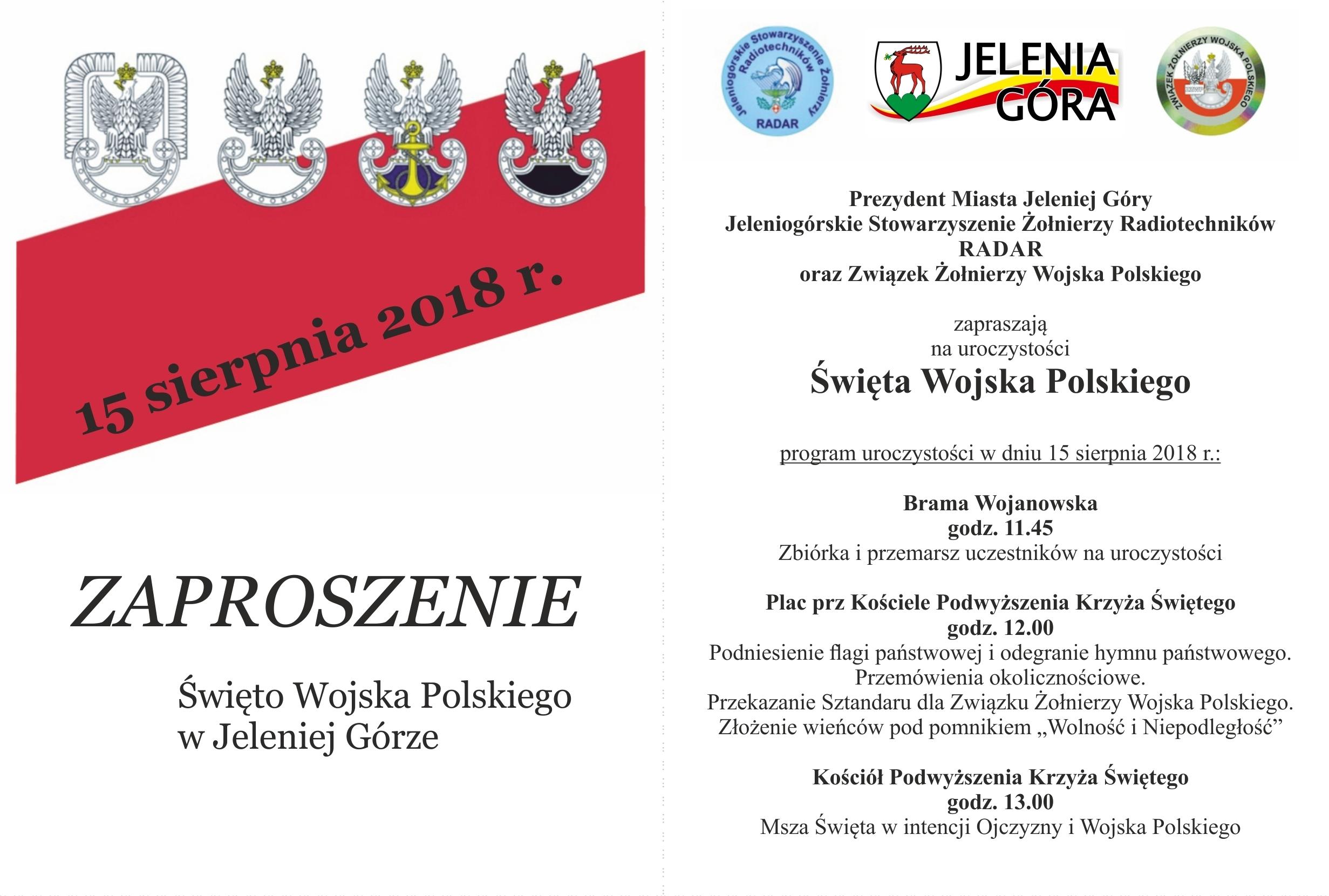 Zaproszenie 15 sierpnia 2018