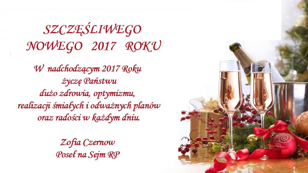 Szczęśliwego Nowego Roku 2017… życzy Pani Poseł Czernow
