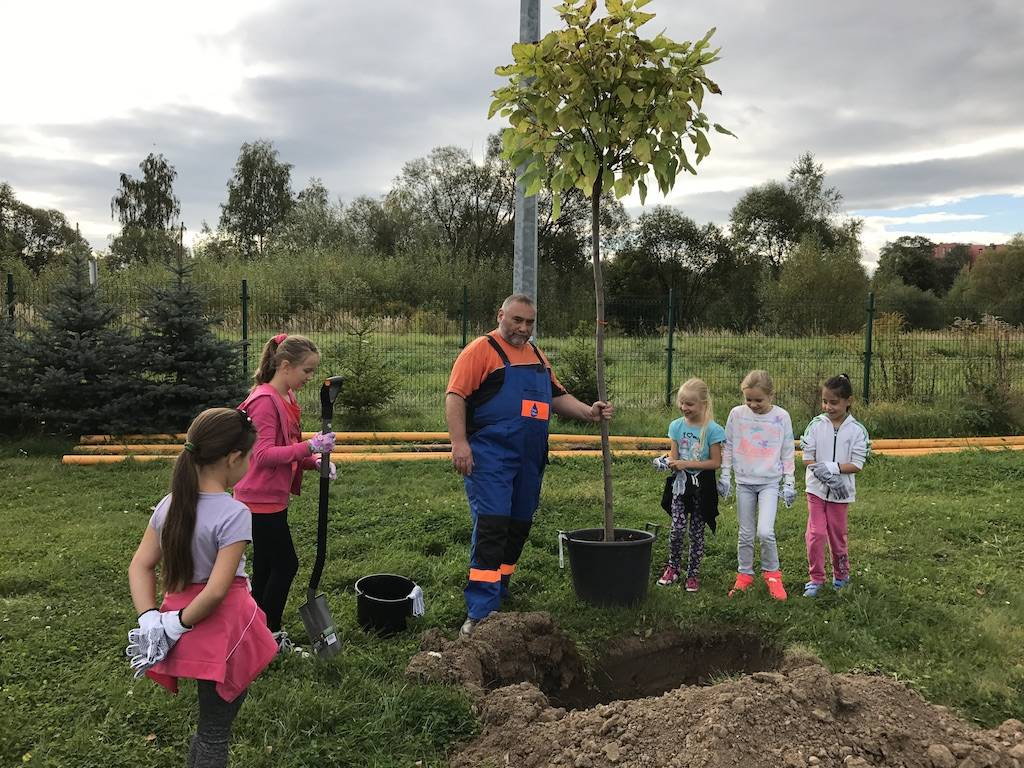 Dzieci razem z Wodnikiem… sadzili drzewka